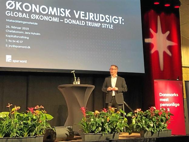 Gennemgang ved cheføkonom Jens Nyholm.Privatfoto