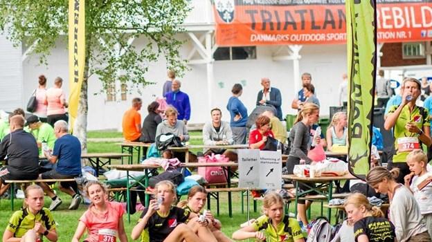 Hyggen både før og efter løbet er noget, som arrangørerne af Triatlandløbet lægger stor vægt på.  Arkivfoto Mathies Brinkmann Jespersen