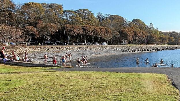 Mange brugte - et-lille-stykke-ad-gangen-teknikken fra stranden.Privatfoto: Niels Christiansen