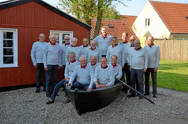 """Kystmuseets maritime mandskor """"Gasterne"""".Privatfoto"""