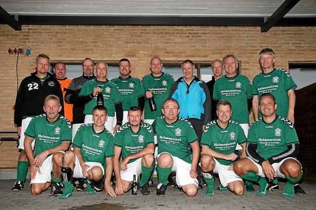 Det blev igen til en førsteplads for La Liga Grand Old Boys 11 mands fodbold for Jetsmark IF. Foto: Flemming Dahl Jensen