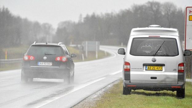 Især tre veje i Thy er populære hos fotovognene. Arkivfoto
