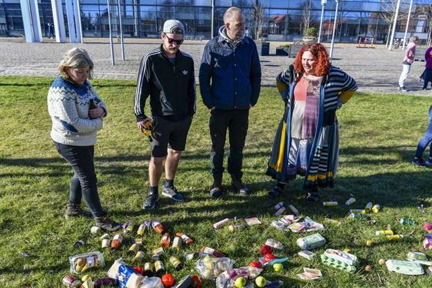 I Danmark bliver der smidt omkring 700.000 tons spiseligt mad ud. Foto: Kim Dahl Hansen Foto: Kim Dahl Hansen