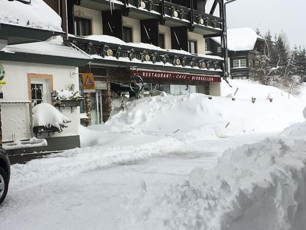 Det lavineramte hotel i Ramsau ved Schladming. Privatfoto