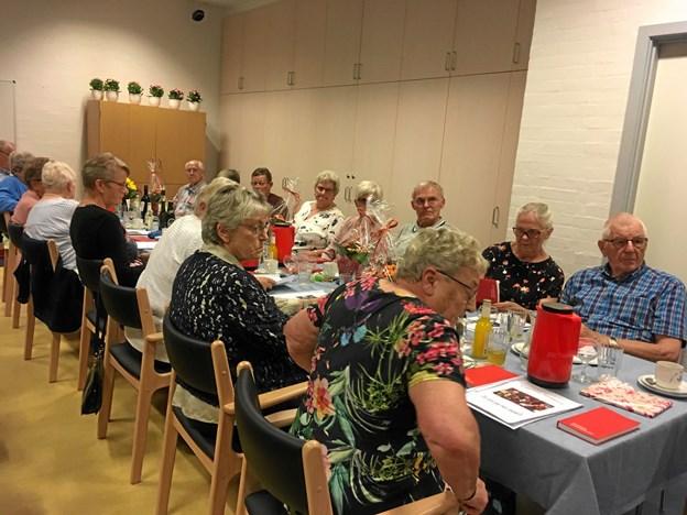 Høstfesten på Haversdal samlede i alt cirka 40 deltagere. ?Privatfoto