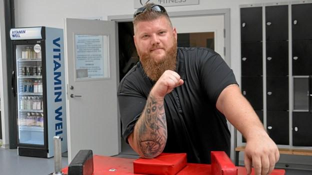 Jonas Laursen, initiativtager til Arden Armwrestler. Foto: Jesper Bøss