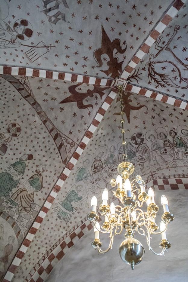 Det samme er Jetsmark Kirke med sine kalkmalerier. Arkivfoto Martin Damgård