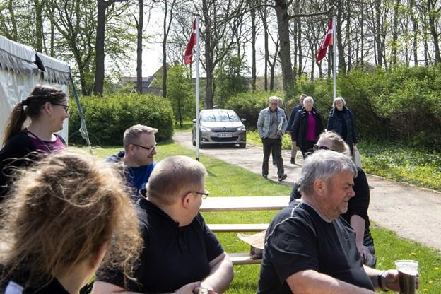 Over 200 mødte op til 1. maj i Bratskov Park. Foto: Laura Gudhammer Foto:  Laura Guldhammer