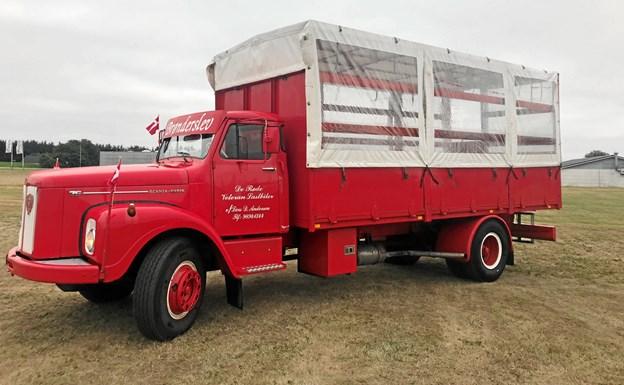 Denne Scania Vabis fra 1976 indsættes i juletrafikken. Privatfoto