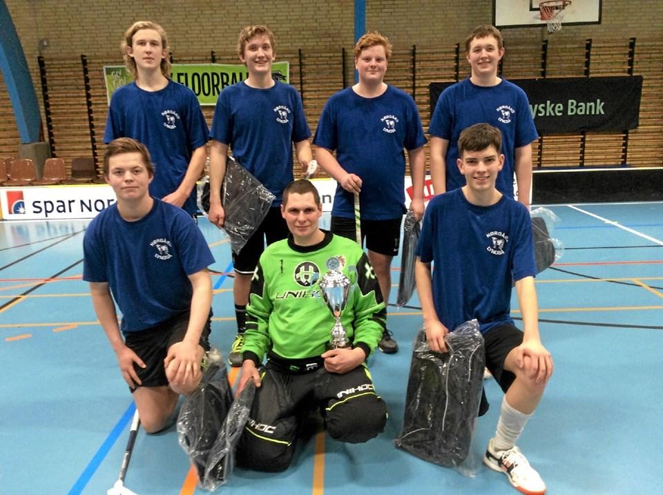 Det unge hold fra Nørgård i Lyngså blev vinder af A-rækken. Foto: privat privat