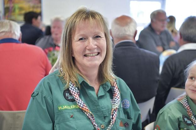 Heidi Mølgaard, leder af de grønne pigespejdere i Hjallerup, var indstillet for sit arbejde med spejderne.Foto: Bente Poder