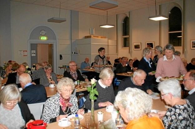 I alt 80 af medlemmerne var samlet til generalforsamling i Ældre Sagen Hobro. Privatfoto