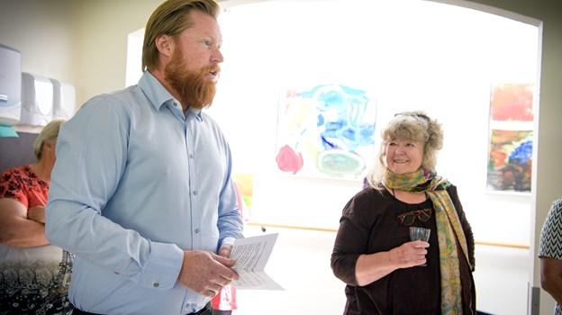Leder af Egehuset, Daniel Graahede bød velkommen. Foto: Bo Lehm