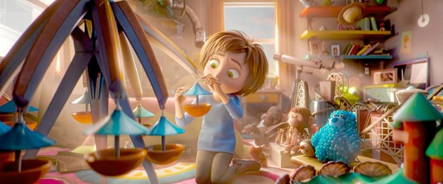Kun fantasien sætter grænser i forlystelsesparken i filmen Den Eventyrlige Park. Her en scene fra filmen.