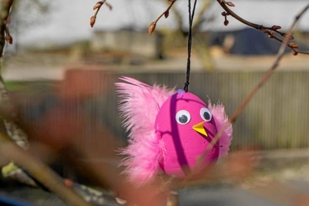 Og en pink kylling blev der også plads til. Foto: Lone Vad Dam