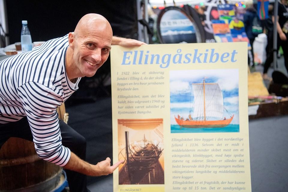 Henrik Buchholtz præsenterede sin idé mandag på Ungemessen Zoom In i Arena Nord. Foto: Kim Dahl Hansen