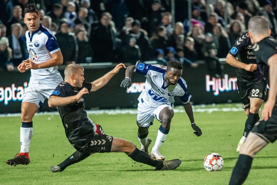 Vendsyssel FF havde besøg af Brøndby i pokalkvartfinalen i fodbold. Foto: Martin Damgård