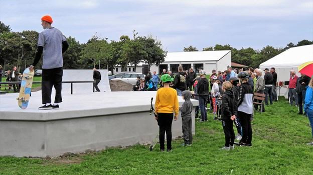 Skaterparken er på 200 kvadratmeter. Foto: Søren Borup Winther