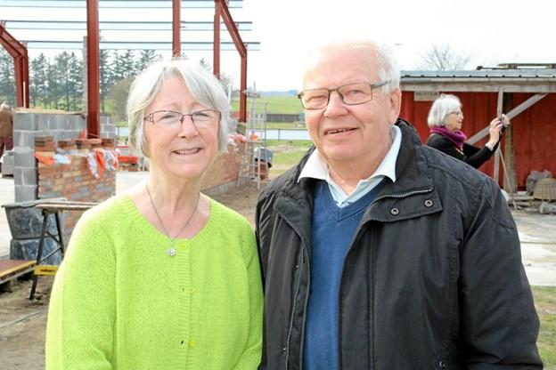 Sekretær og hjemmesideansvarlig Bodil Andersen og kasserer Lars Jepsen. Foto: Flemming Dahl Jensen Flemming Dahl Jensen