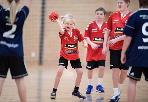 Der er i alt 13 spillere på Aabybro HK's LykkeLiga-hold. Foto: Torben Hansen Torben Hansen