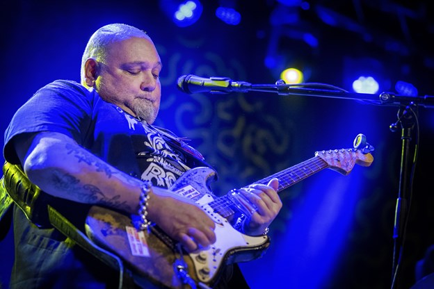 Den amerikanske bluesrock-guitarist Popa Chubby besøger Frederikshavn. Arkivfoto: Lars Pauli