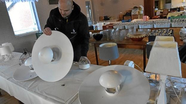 Nogle store designer -loftslamper, forventes der at være interesse om. Foto: Ole Iversen Ole Iversen
