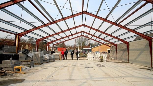 Den ny hal er på godt 450 kvadratmeter. ?Foto: Flemming Dahl Jensen Flemming Dahl Jensen