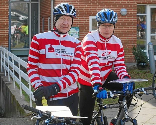 Preben Vilhelmsen og Jan Lauritzen er de to, der i al hemmelighed har planlagt ruter og poster til det store løb. Privatfoto