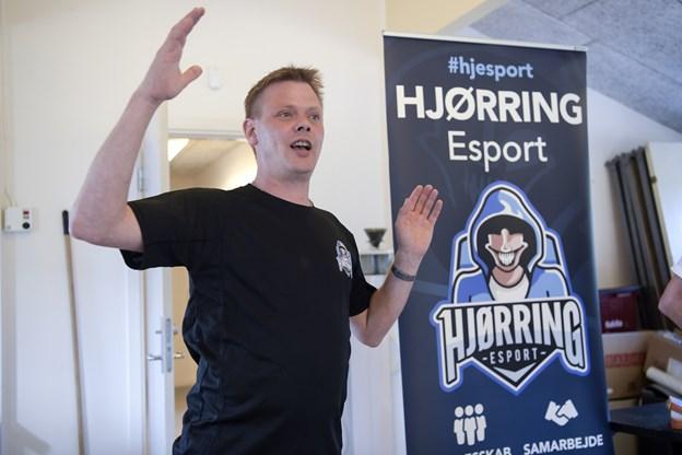 Hjørring Esport med formand Morten Cassøe i spidsen er kommet flyvende fra start - nu gør klubben klar til at arrangere et stor påskelan i Park Vendia. Arkivfoto: Bente Poder