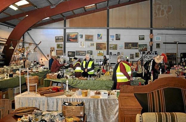Årets første spejderloppemarked sker 30. marts i den gule hal.Arkivfoto: Ole Torp