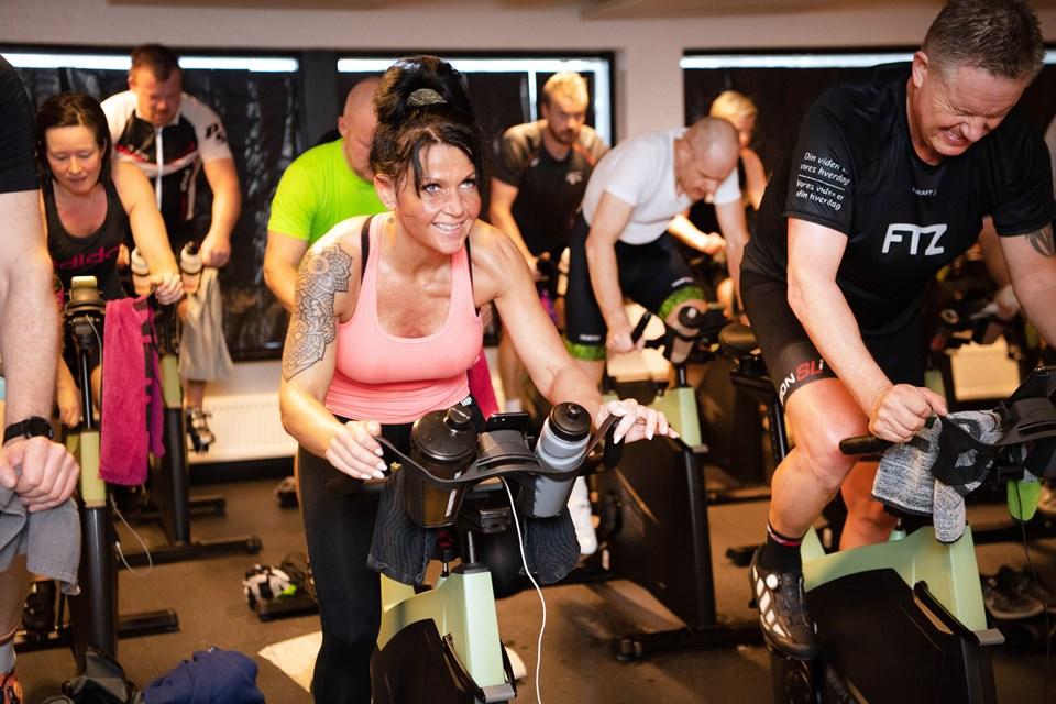 Lørdag blev der trampet i pedalerne fra ni morgen til ni aften.Foto: Hans Ravn