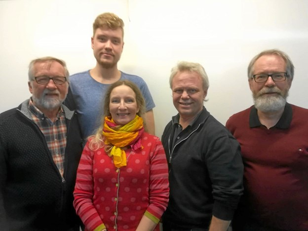 Fra venstre: Erik Ingerslev, Matias Appel, Charlotte Holst Høybye, Frank Østergaard og Ove Albrektsen Foto: Erik Ingerslev Larsen