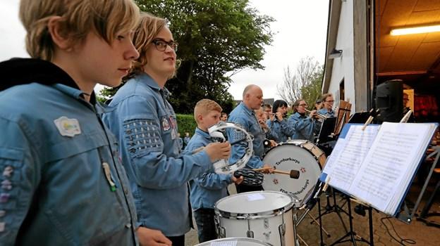 Tamburkorpset bidrog med musikalsk underholdning. Foto: Allan Mortensen Allan Mortensen