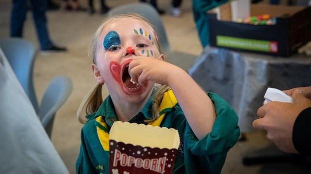 Ansigtsmaling skaber en glubende sult. Foto: Kim Dahl Hansen Foto: Kim Dahl Hansen