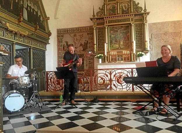 Det er ikke en koncert, men en gudstjeneste, hvor musik og fællessang har en fremtrædende rolle. ?Foto: Privat.