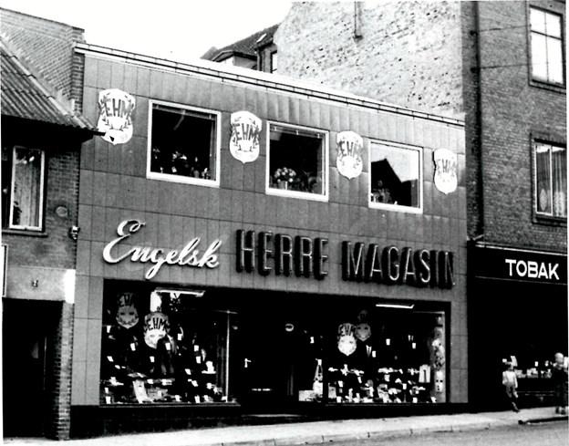 Butikken startede som Engelsk Herremagasin, her anno 1958. Foto: udlånt af Steen Madsen