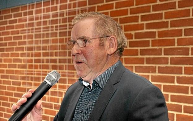Seniorklubbens formand, Harry Gade bød alle velkommen. Foto: Hans B. Henriksen Hans B. Henriksen