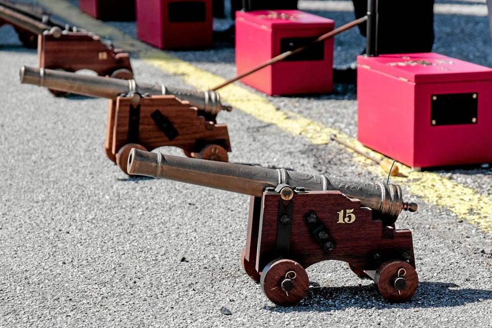De støbte kanoner er godkendt af Justitsministeriet og af politiet. Foto: Peter Jørgensen Peter Jørgensen