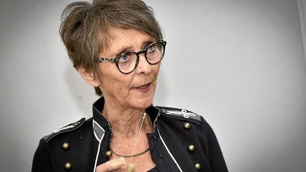 Gurli Thorsø fortalte om 20 år som forpagter, som har været både ture op og ture ned, men som hun aldrig ville have undværet. Foto: Ole Iversen