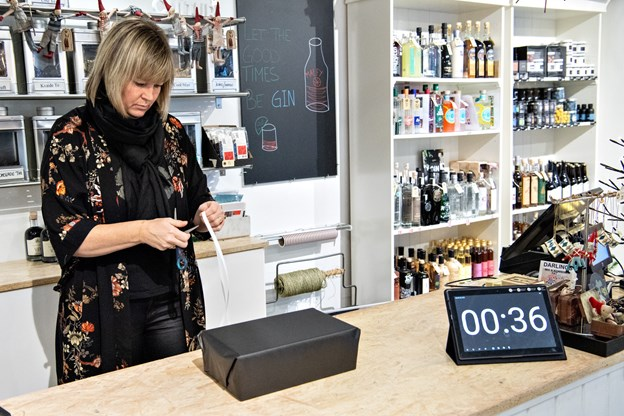 Tiden skal være hurtig, men pakken skal også være fin ... Foto: Kim Dahl Hansen