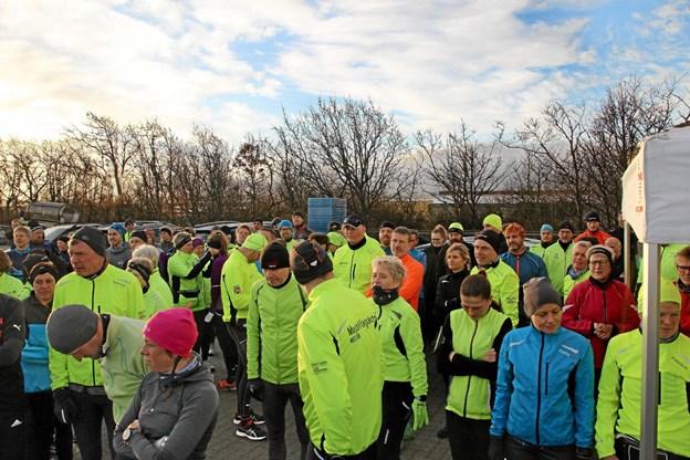 Ca. 250 deltog i Thyholm Løbeklubs årlige trailløb fra havnen i Oddesund nord. Foto: Hans B. Henriksen