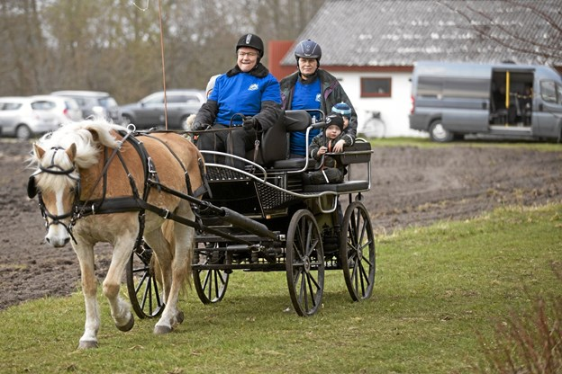 Der var også mulighed for en hyggelig tur i hestevogn. Foto: Allan Mortensen Allan Mortensen