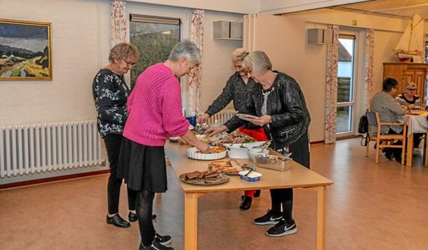De frivillige var indbudt til spisning og for at styrke fællesskabet. Foto: Mogens Lynge