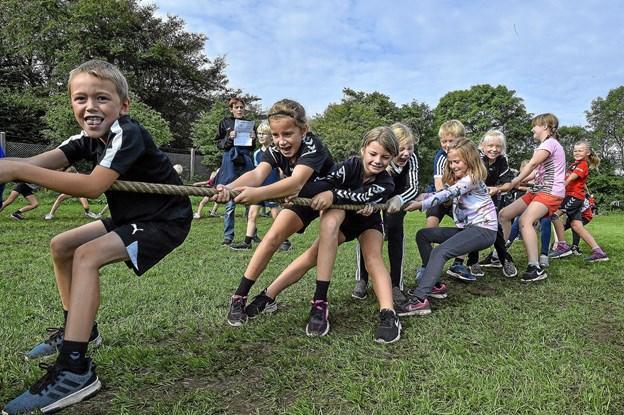 Idrætsdag 2018 for skolerne i Sydthy.Foto: Ole Iversen