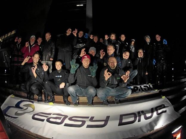 Dykkerforsøget er en årligt tilbagevendende begivenhed. Arkivfoto