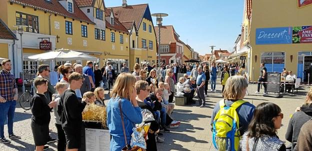 Spejderne arrangerede æggeløb ved Vandkunsten påskelørdag. Foto: Ole Svendsen
