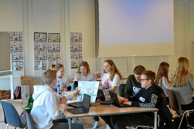 Hvordan lærer man bedst? Og hvordan bliver Jammerbugt Kommunes folkeskoler blandt de bedste 20 i Danmark? Det var nogle af de ting, eleverne snakkede om. Privatfoto