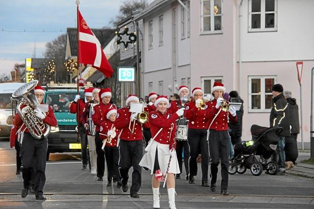 Flot Snedsted Garde i spidsen for optoget. Foto: Hans B. Henriksen Hans B. Henriksen