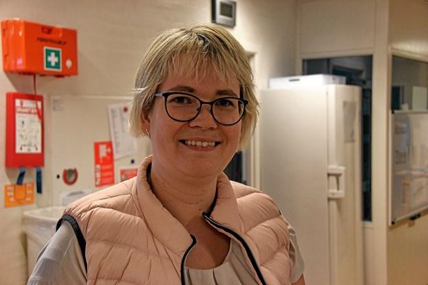 Formanden for forældrerådet, Gitte Bjerregaard glædede sig over interessen som børnene havde for arrangementet. Foto: Hans B. Henriksen Hans B. Henriksen