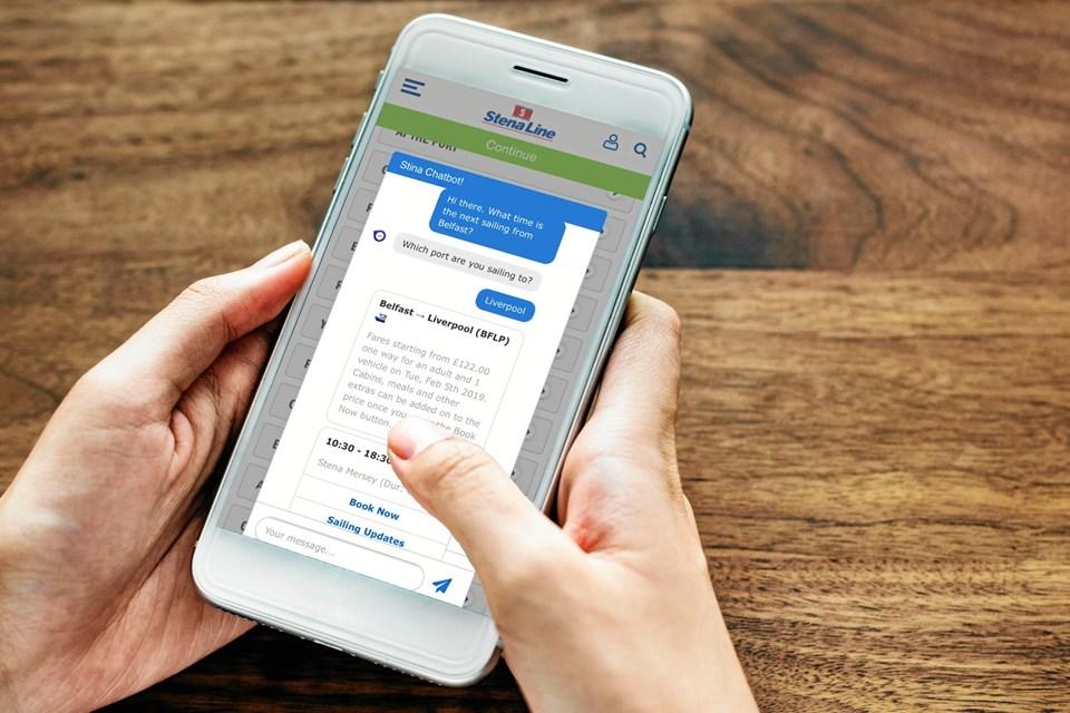 Chatbotten Stina kan hjælpe kunderne med afgangstider, priser og andet. PR-foto